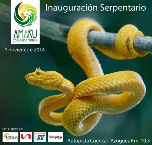 Zoo-Bioparque-Amaru-Cuenca-Inauguracion del Serpentario