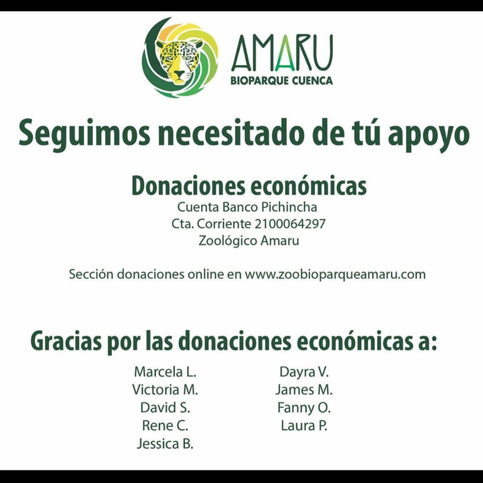 Zoo-Bioparque-Amaru-Cuenca-TÚ APOYO Y COLABORACIÓN PARA SUPERAR ESTOS MOMENTOS DIFICILES DE CRISIS